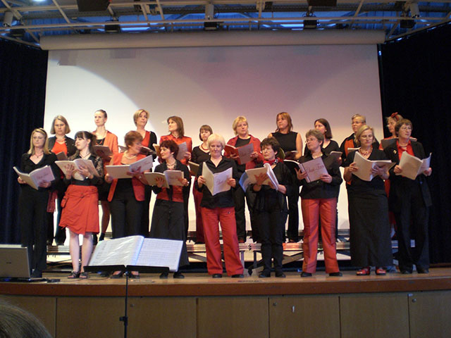 "Der Damenchor ""Chori-Feen"" besteht bereits seit 1997."