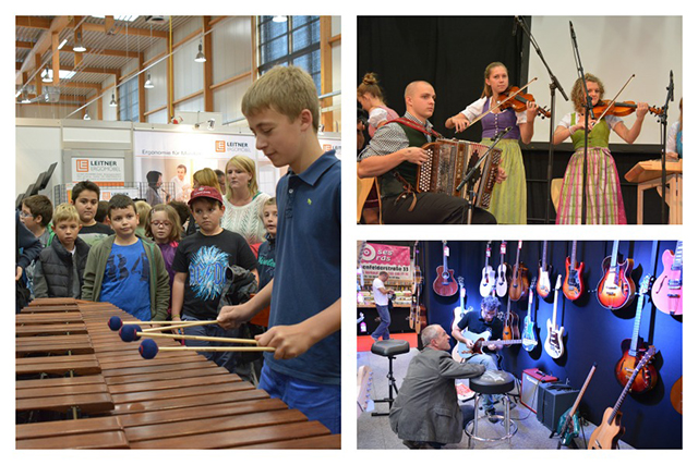 Wie klingt was? Auf der Music Austria können Besucher Musikinstrumente ausprobieren. Bilder © MESSE RIED GmbH.