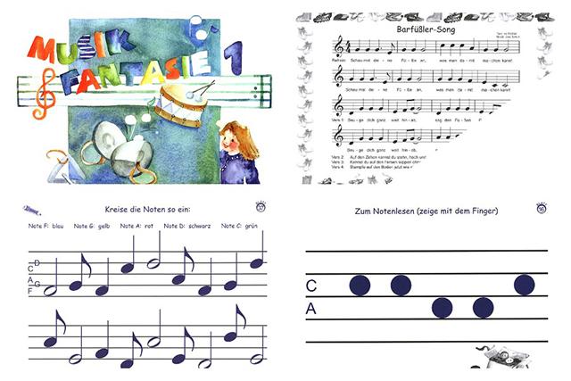 Mit der Musikfantasie spielerisch das Notenlesen lernen.