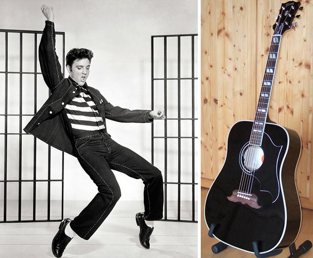 Der 'King of Rock'n'Roll' und seine Gitarre – eine 1969 Custom Gibson Ebony Dove.