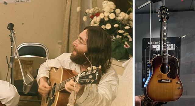 Lennons jahrelang verschollene Gitarre wurde von einem Experten anhand der Holzmaserung eindeutig als sein Instrument erkannt.