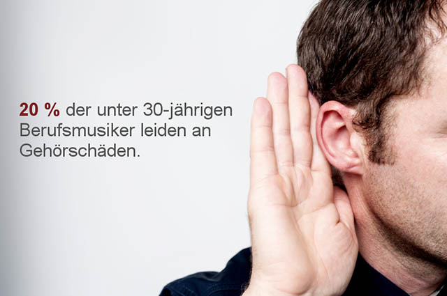Gehörschäden gehören zu den häufigsten Musikerleiden.