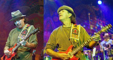Collage mit Carlos Santana