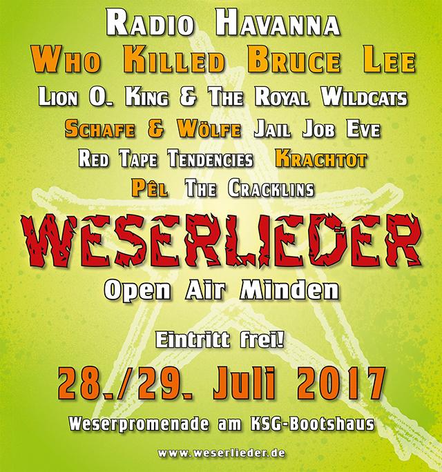 Plakat Weserlieder