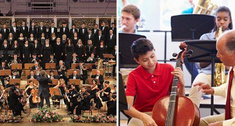 Titelcollage Konzertpädagogik