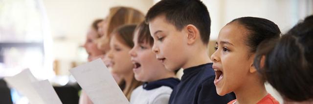 Kinder singen im Kinderchor