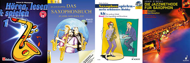 Cover Collage Saxophon-Methoden
