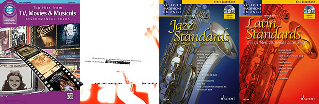 Cover Collage Playalong & Saxophone Lounge