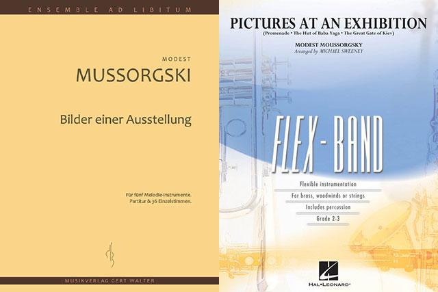 """Cover-Collage """"Bildere einer Ausstellung"""""""