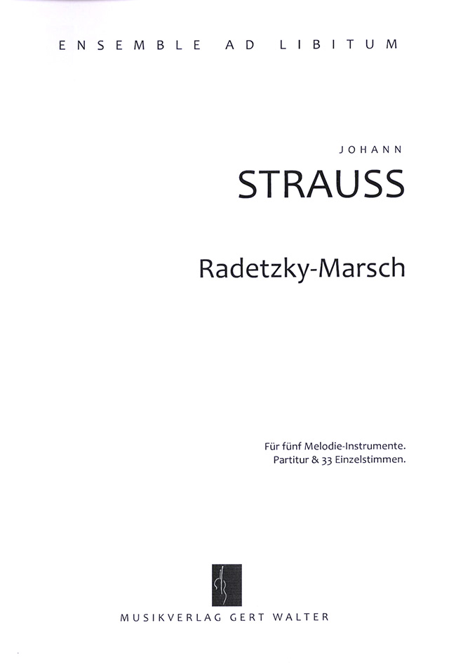 "Cover ""Radetzky Marsch"""