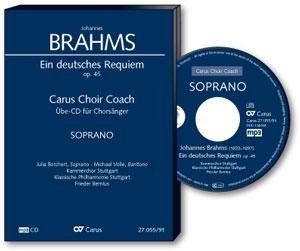 Übehilfen carus plus - Cover Brahms Requiem