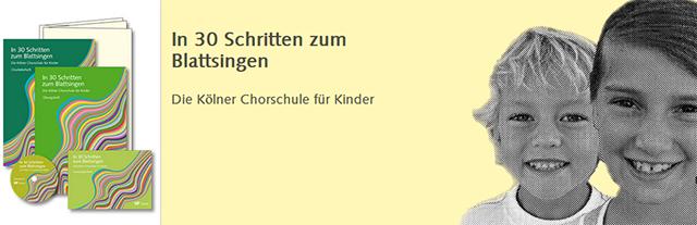 In 30 Schritten zum Blattsingen - Die Kölner Chorschule für Kinder