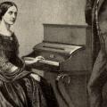 Clara Schumann am Klavier