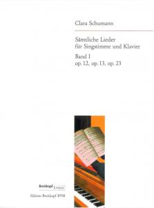 """Buchcover Clara Schumanns """"Sämtliche Lieder"""""""