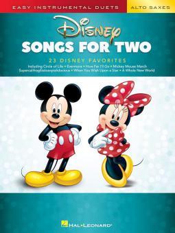 Disney Songs for 2 Alto Saxes