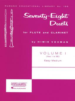 78 Duets for Flute and Clarinet 1