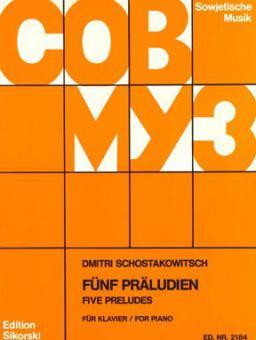 Fünf Präludien Op.2 5 Preludes Piano