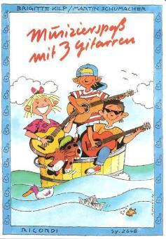 Musizierspaß mit 3 Gitarren