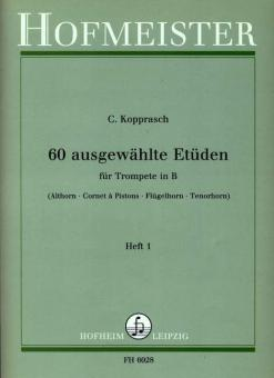 60 ausgewählte Etüden für Trompete in B Band 1