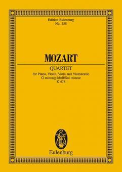 Klavierquartett g-Moll KV 478Standard