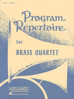 Program Repertoire For Brass Quartet
