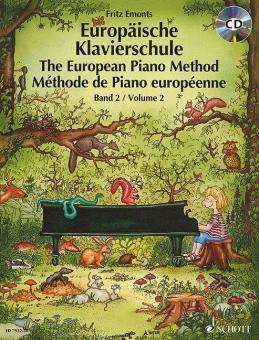 Europäische Klavierschule Band 2 mit CD