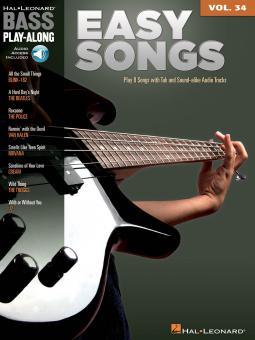 Bass Play-Along Vol. 34: Easy Songs