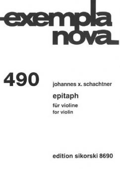 Epitaph für Violine