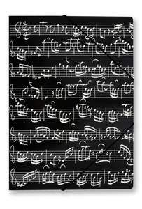 Gummispannmappe Notenblatt schwarz