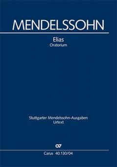 Elias MWV A 25 - Klavierauszug, deutsch