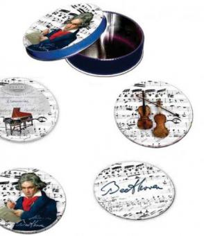 Untersetzer aus Metall - Beethoven