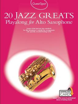 20 Jazz Greats Playalong for Alto Saxophone