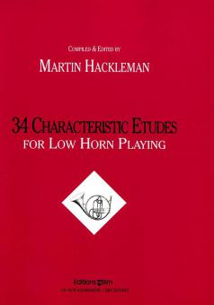 34 Characteristic Etudes For Low Horn Playing