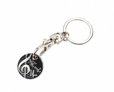 Schlüsselanhänger mit Einkaufswagenchip 'All I need is Music'