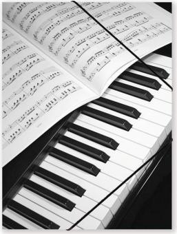 Gummispannmappe Klavier - Notenblatt