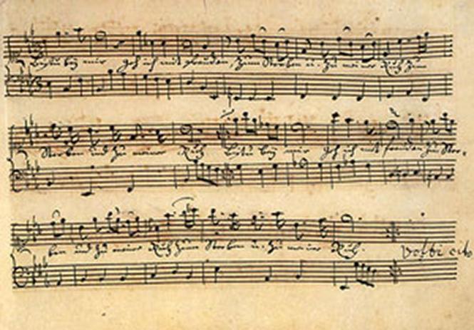 Anna Magdalena Bach: Anna Magdalena Bachs Notenhandschrift
