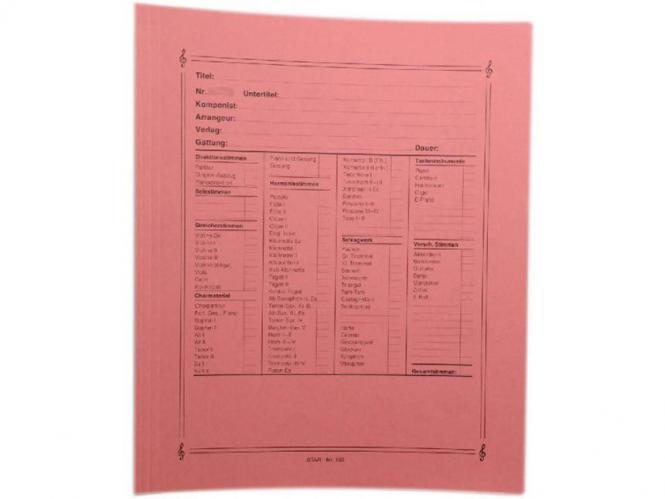 Notenumschlag Quart-Format rot