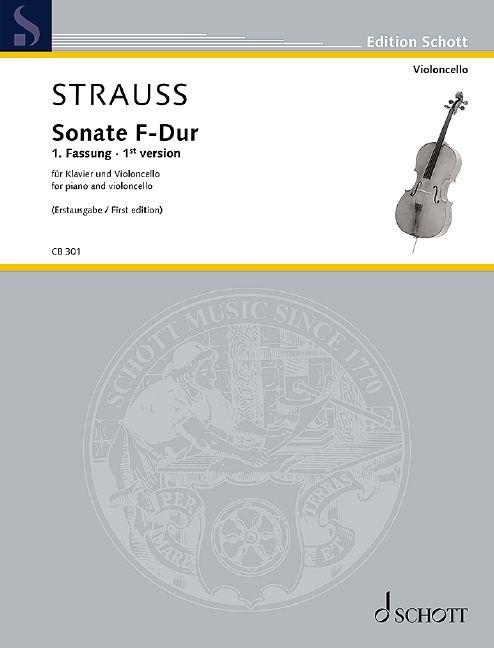 Sonate F-Dur op. 6 - Erstausgabe der 1. Fassung Standard