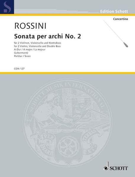 Sonata per archi Nr. 2 A-Dur Standard