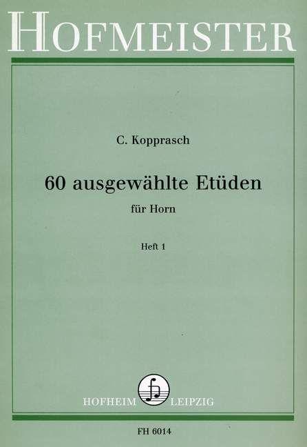 60 ausgewählte Etüden für Horn Heft 1