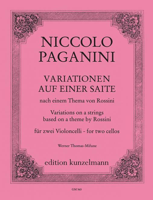Variationen auf einer Saite für 2 Violoncelli