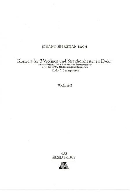 Konzert in D-Dur BWV 1064
