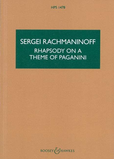 Rhapsodie über ein Thema von Paganini op. 43