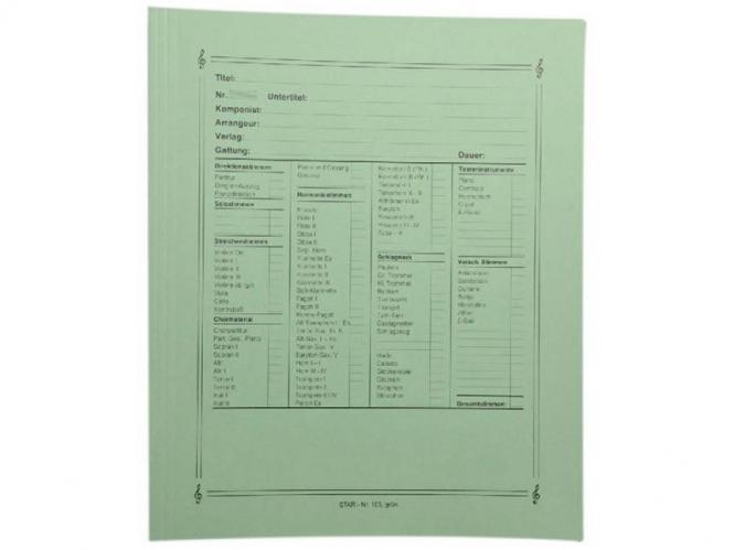 Notenumschlag Quart-Format grün