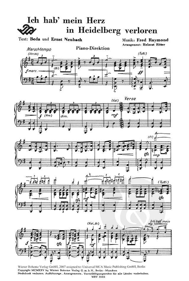 Hab heidelberg in text akkorde mein herz ich verloren text ich