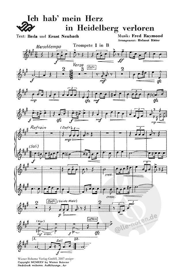 Verloren herz heidelberg in ich text mein akkorde hab MISC TRADITIONAL